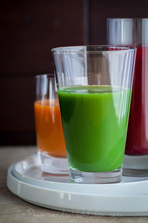 Green Juice from Gourmande in the Kitchen Drinking Your Veggies | A Trio of Juice Recipes