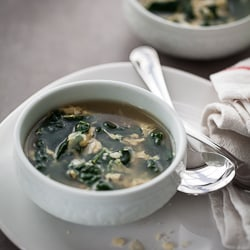 Winter Greens and Egg Soup | Stracciatella, Aigo Boulido