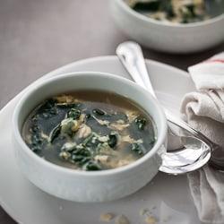 Kale Stracciatella Soup, Egg Soup, Kale Soup, Garlic Soup