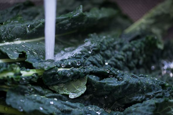 Kale for Soup from Gourmande in the Kitchen Winter Greens and Egg Soup | Stracciatella, Aigo Boulido
