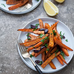 Moroccan Spiced Roasted Sweet Potatoes and Carrots 186 Moroccan Spiced Roasted Sweet Potatoes and Carrots