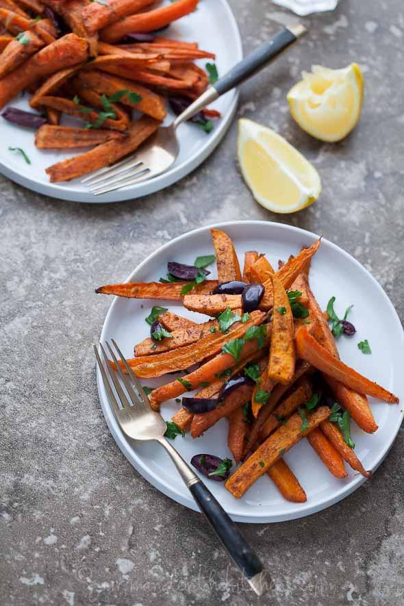 sweet potatoes, carrots, roasted vegetables, roasted sweet potatoes, roasted carrots