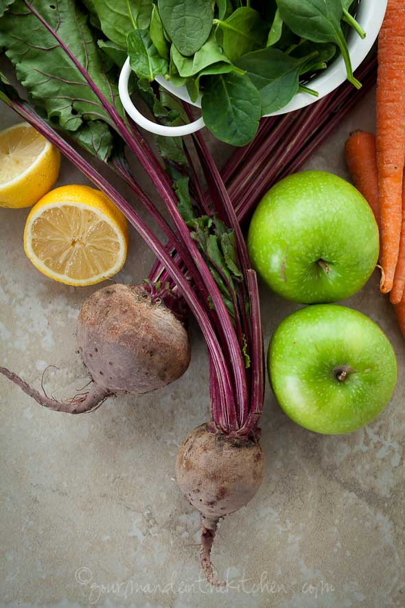 Raw Vegetables for Juicing from Gourmande in the Kitchen Drinking Your Veggies | A Trio of Juice Recipes