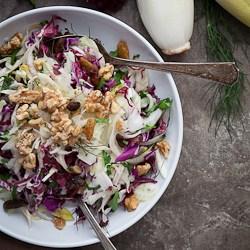 Red Cabbage, Radicchio and Endive Salad Recipe