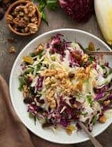 Red Cabbage, Radicchio and Endive Salad Recipe   A Winter Salad