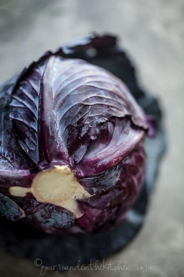 red cabbage, food photography