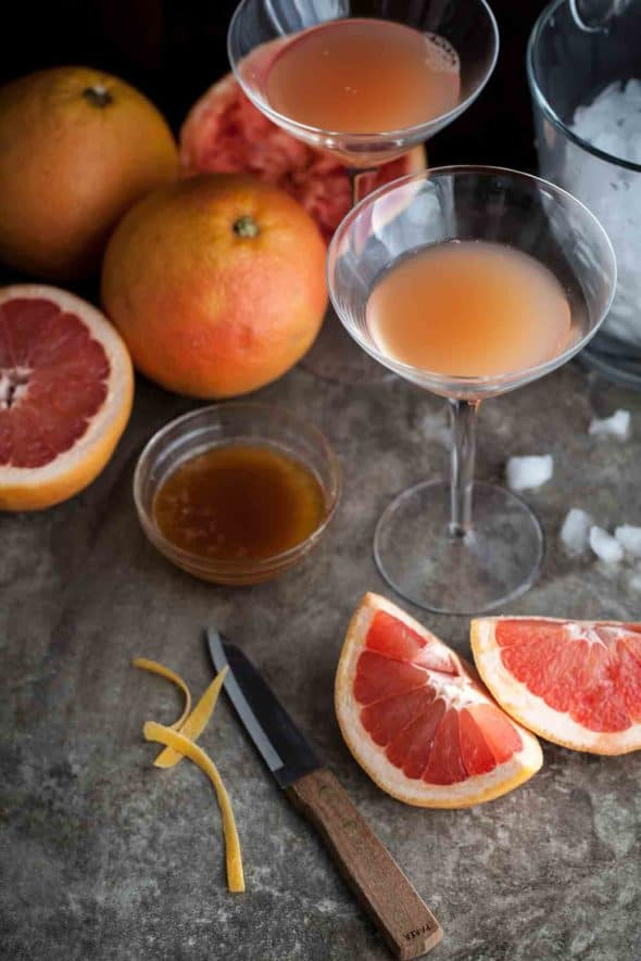 Bourbon Grapefruit Cocktail Ingredients
