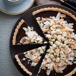 Chocolate, Coconut, Macadamia Nut Tart Recipe (Gluten-Free, Paleo, Vegan)