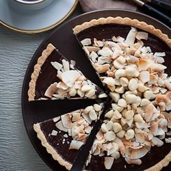 Chocolate, Coconut, Macadamia Nut Tart Recipe (Gluten-Free, Paleo, Vegan)