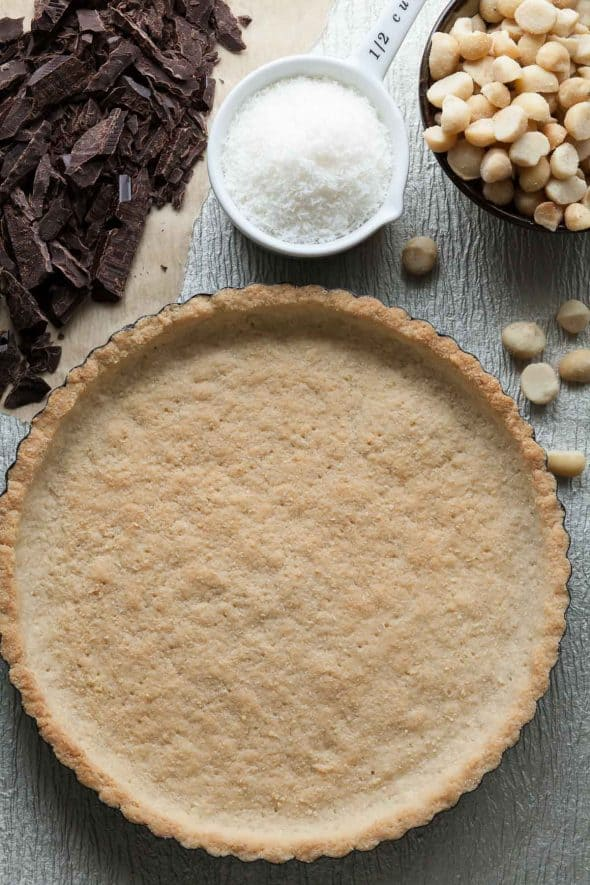 Chocolate Coconut Macadamia Nut Tart (Gluten-Free, Paleo)