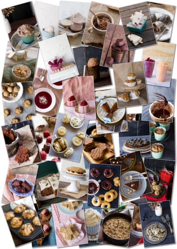 Guilt Free Desserts E-Cookbook Wholesome Cook collage