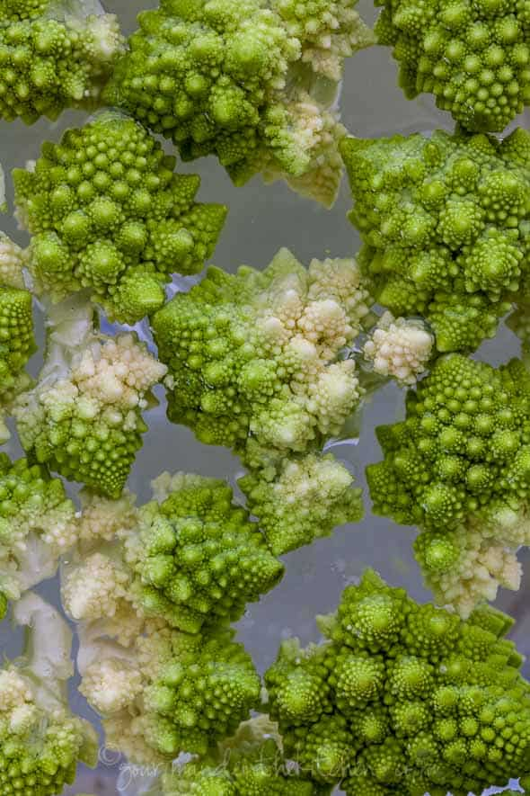 romanesco cauliflower, roman cauliflower, Italian cauliflower