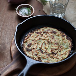 Rosemary Asian Yam or Sweet Potato Galette Recipe