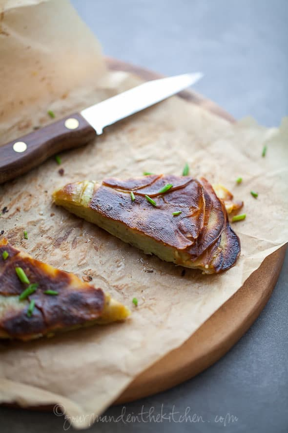 Asian Yam or Sweet Potato Galette from gourmandeinthekitchen.com  Rosemary Yam or Sweet Potato Galette
