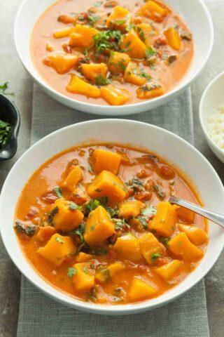 Butternut Squash Curry with Coconut Milk (Paleo, Vegan)
