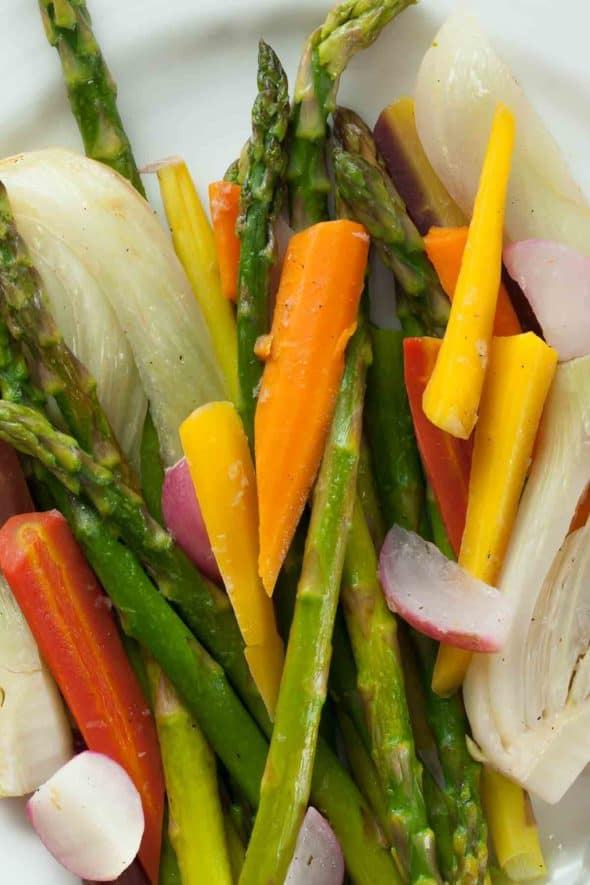 Assortment of Springtime Vegetables
