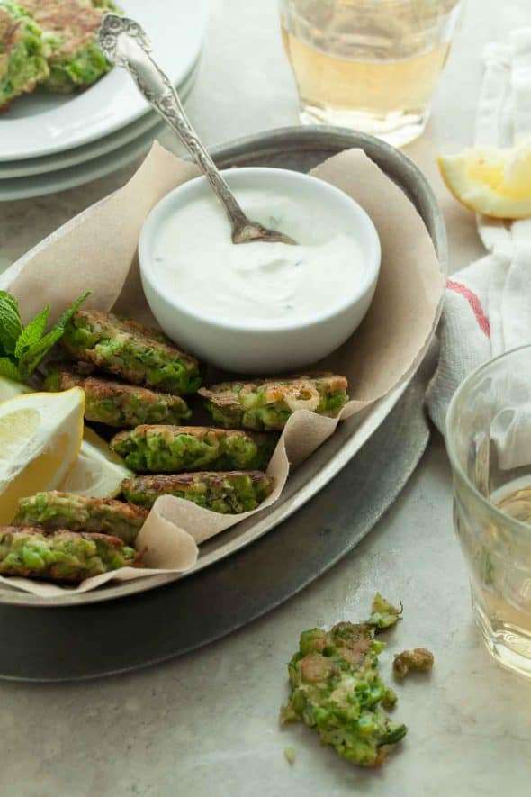 Pea Fritters with Mint and Feta (Gluten-Free)