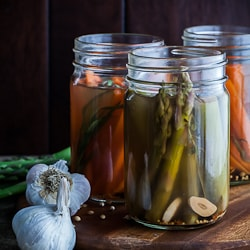 Quick Refrigerator Tarragon Pickled Carrots and Asparagus