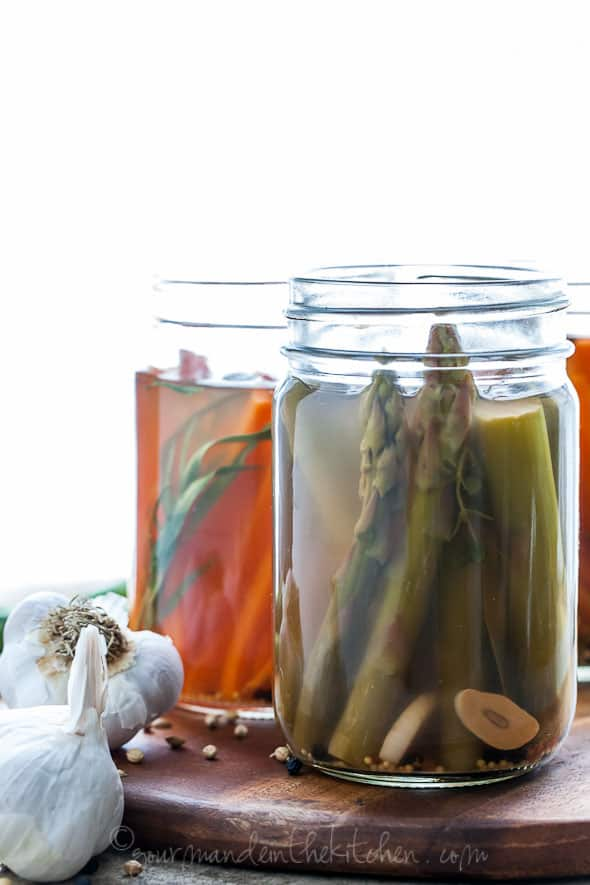 pickled carrots, pickled asparagus, quick pickles, refrigerator pickles