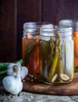Quick Pickled Carrots and Asparagus with Tarragon