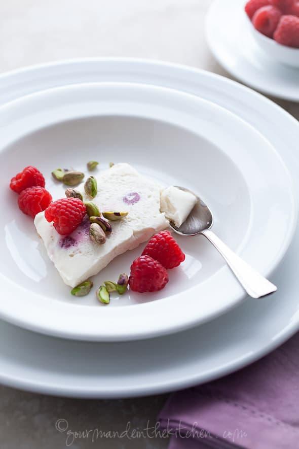 semifreddo recipe, honey semifreddo, yogurt semifreddo