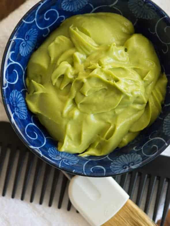 Avocado Coconut Oil Hair Mask in Bowl