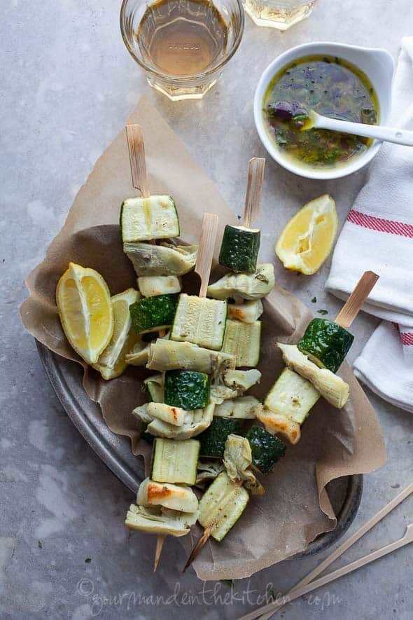 vegetable skewers, kabobs, grilled vegetables