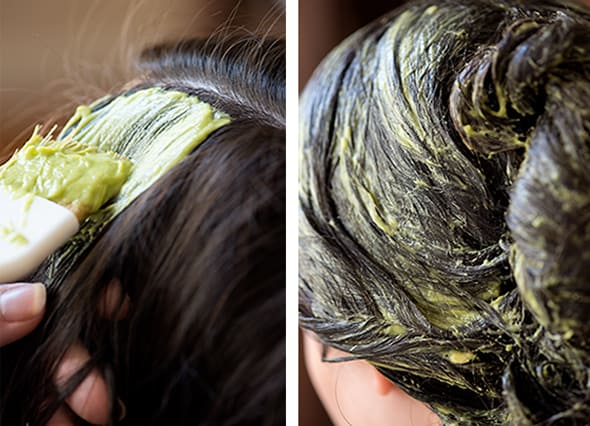 Avocado Coconut Mask on Hair