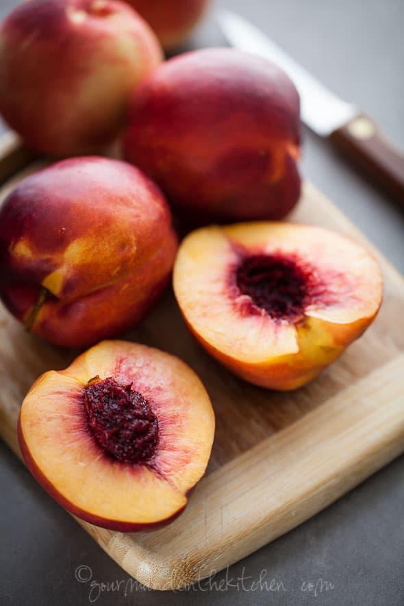 fruit crumble, fruit parfait, nectarine crumble, nectarine parfait