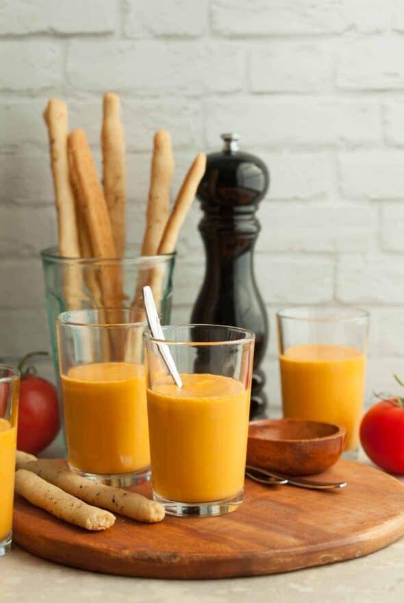 Vegan Chilled Tomato Soup (Paleo)