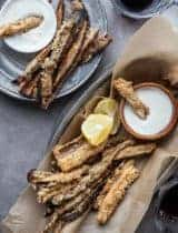 Baked Eggplant Fries with Goat Cheese Dip (Gluten-Free, Grain-Free)