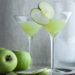 green apple ginger martini cocktail