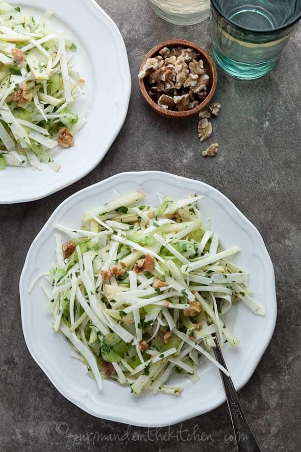 celery root salad, celery root slaw, celery root apple slaw, celery ...