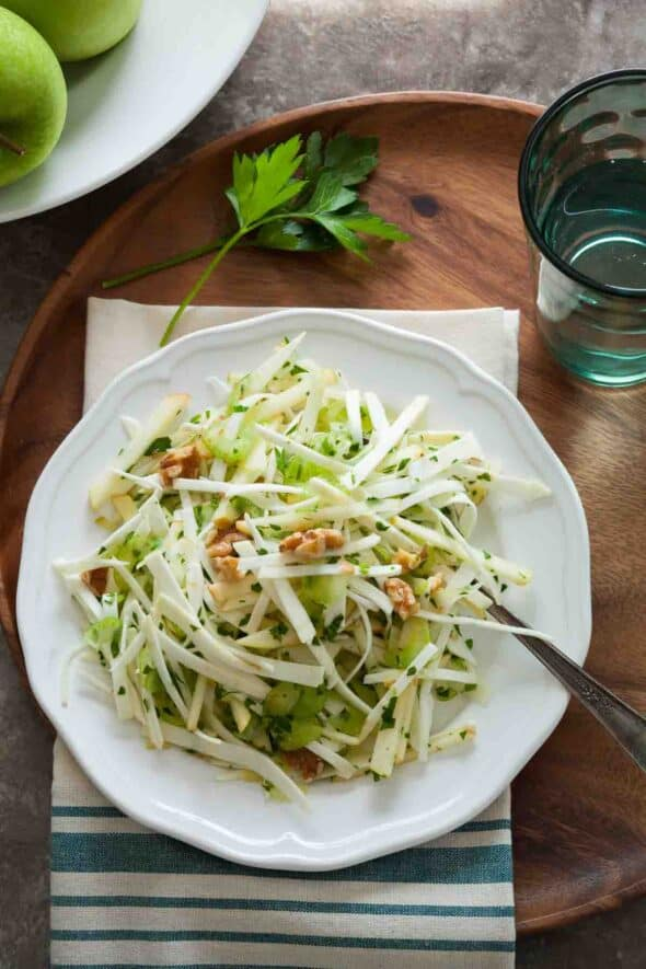 Food 1 2016 6 14 Nectarine Parmesan Salad >> Celery Root And Apple Salad Gourmande In The Kitchen