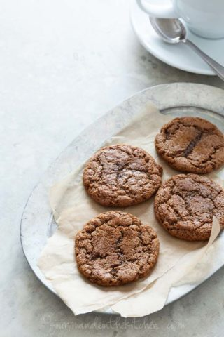 Chewy Ginger Molasses Cookies (Gluten-Free, Paleo Friendly)