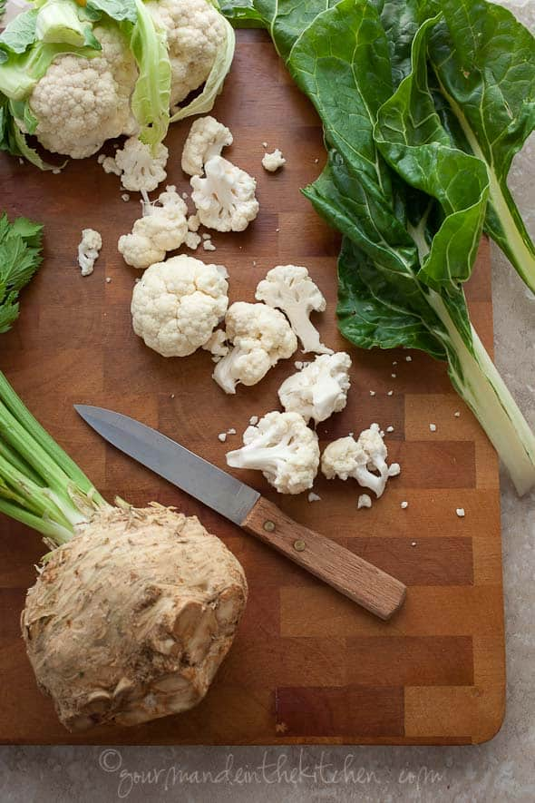 celery root and cauliflower mash, celery root puree, cauliflower puree