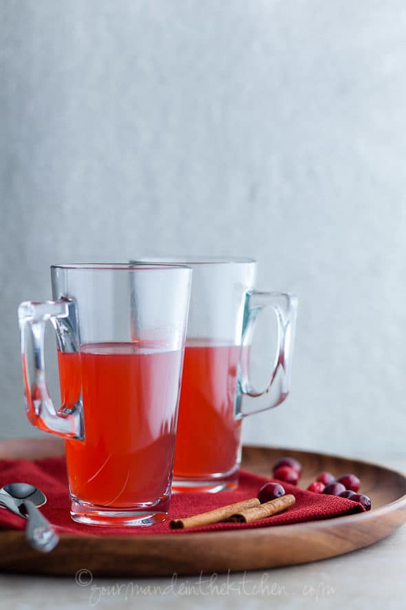 Cranberry Spice Tea in Tall Glasses