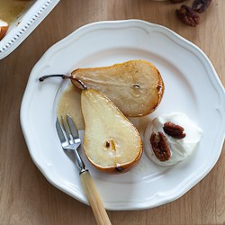 Caramelized Pears With Vanilla Syrup Recipes — Dishmaps