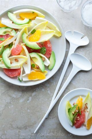 Citrus Endive Avocado Salad