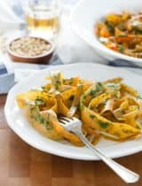 Sweet Potato Noodles with Kale Pesto (Gluten-Free, Grain-Free, Vegan, Paleo)