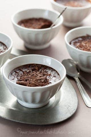 Earl Grey Chocolate Pots de Crème (Dairy-Free, Paleo Friendly)