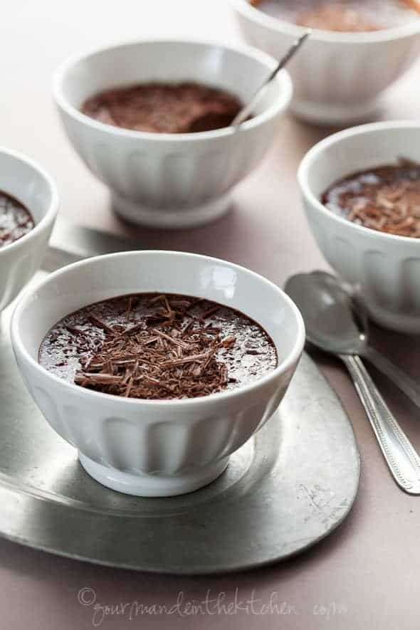 chocolate pots de creme, earl grey chocolate pots