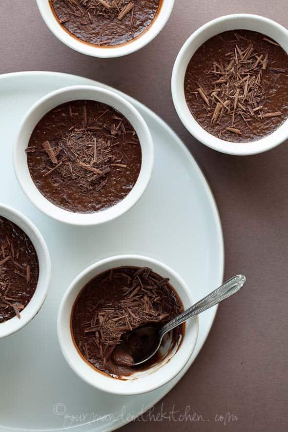chocolate pots, pots de creme