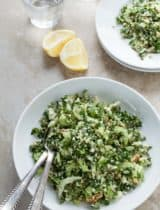 Cauliflower Tabbouleh with Green Olives (Grain-Free, Vegan, Raw, Paleo)