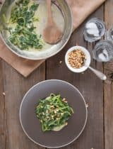 Garlic Dijon Spinach With Pine Nuts from The Slim Palate Paleo Cookbook