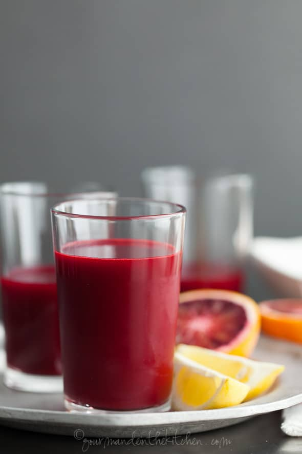 Carrot Beet Blood Orange Ginger Turmeric Juice gourmandeinthekitchen.com  Rejuvenating Root Juice | Carrot, Beet, Blood Orange, Ginger, Turmeric Juice