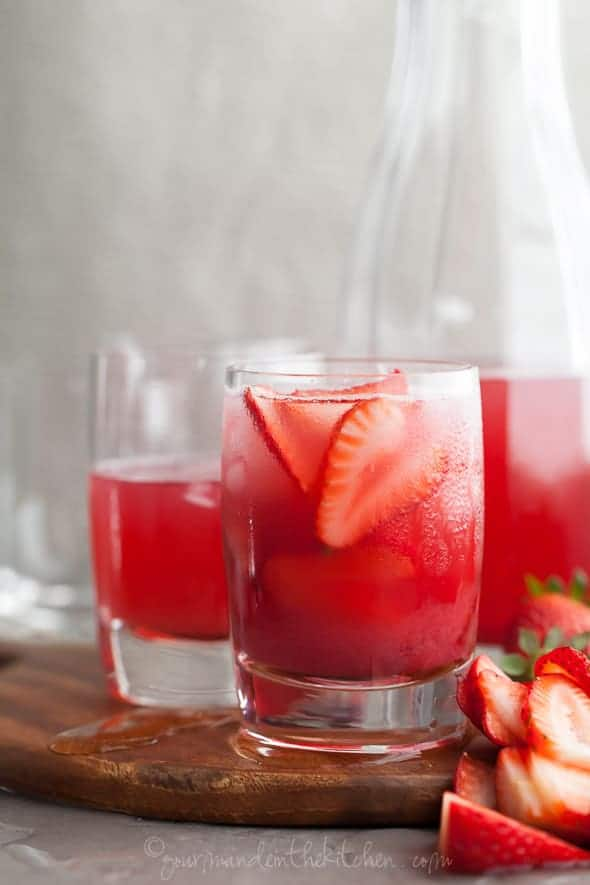 Hibiscus Strawberry Rhubarb Iced Tea