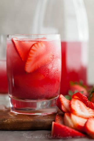Hibiscus Strawberry Rhubarb Iced Tea