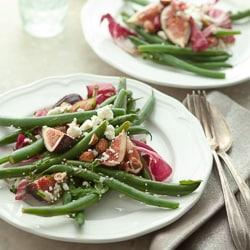 Fig, Green Bean and Radicchio Salad with Toasted Hazelnuts from gourmandeinthekitchen.com-5