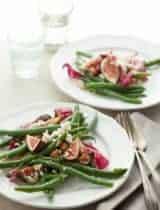 Fig, Green Bean and Radicchio Salad with Hazelnuts